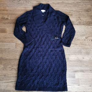 NWOT Calvin Klein Cable Knit Dress M